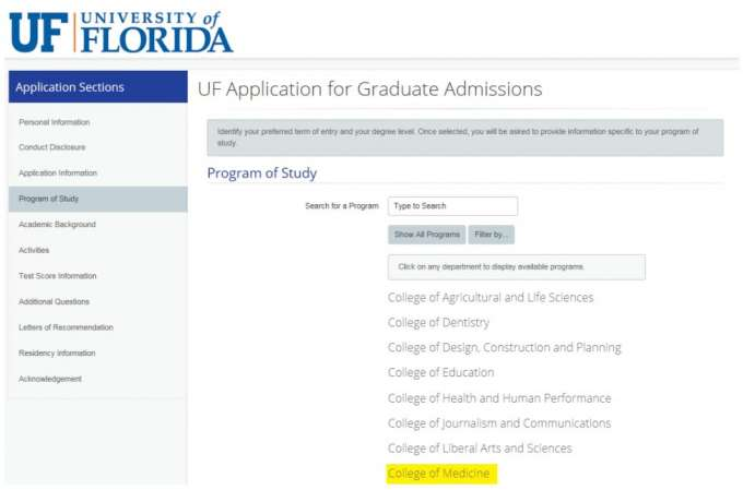Uf Application Deadline >> Application Process Graduate Program In Biomedical