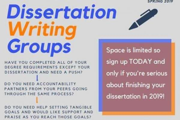 Dissertation Writing Groups - Spring 2019