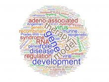 Wordcloud of 86 most recent Genetics dissertation title key words