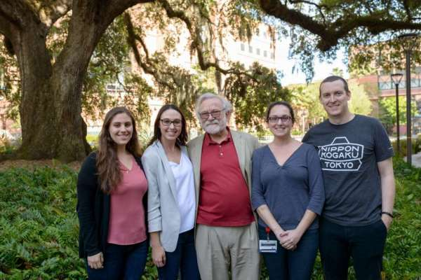Distinguished Lecture Series speaker and organizers