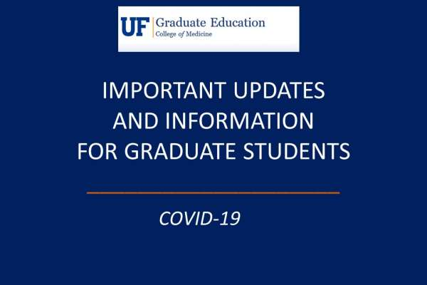 COVID-19 Updates for Graduate Students