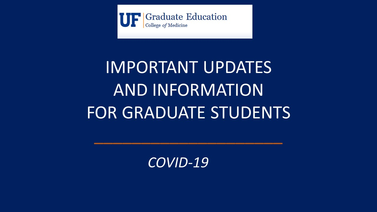 Uf Covid 19 Update And Information For Graduate Student Program In Biomedical Science College Of Medicine University Florida Dissertation Checklist