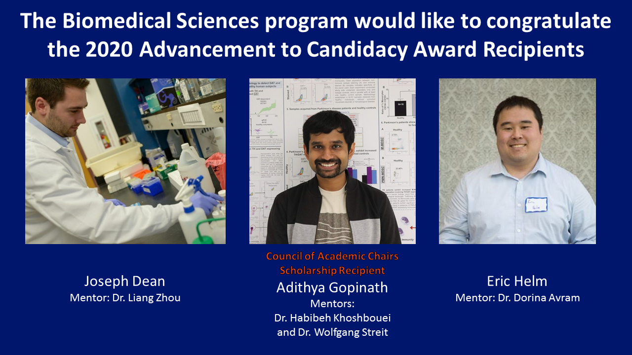 Advancement to Candidacy recipients